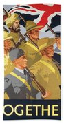 Together Propaganda Poster Beach Towel by Anonymous