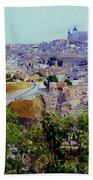 Toledo Spain In Blue Beach Towel