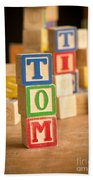 Tom - Alphabet Blocks Beach Towel