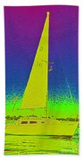 Tom Ray's Sailboat Beach Towel