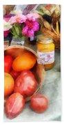 Tomatoes And Peaches Beach Towel