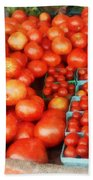 Tomatoes For Sale Beach Towel