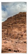 Tombs Of Petra Beach Towel