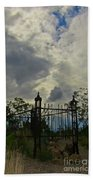Tombstone Picture Perfect Halloween Image Beach Towel
