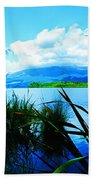 Tongariro National Park Oil On Canvas Beach Towel