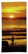Tonle Sap Sunrise 01 Beach Towel
