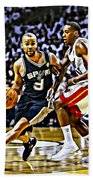 Tony Parker Painting Beach Towel
