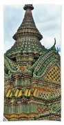 Top Of Temple In Wat Po In Bangkok-thailand Beach Towel