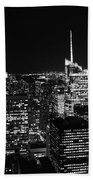 Top Of The Rock In Black And White Beach Towel