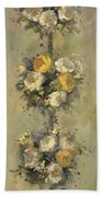 Topiary Bouquet 1 Beach Towel