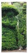 Topiary Couple Beach Towel