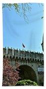 Topkapi Palace Wall And Gate In Istanbul-turkey Beach Towel