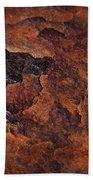 Topography Of Rust Beach Towel