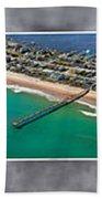 Topsail Island Aerial Panels II Beach Towel