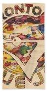 Toronto Blue Jays Vintage Art Beach Towel