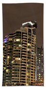 Toronto Condos On A Cold Winter Night Beach Towel