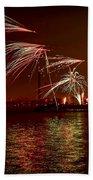 Toronto Fireworks Beach Towel by Elena Elisseeva