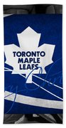Toronto Maple Leafs Christmas Beach Towel