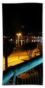 Torquay Royal Terrace Gardens Steps At Night Beach Towel