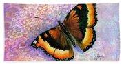 Tortoiseshell Butterfly Beach Towel