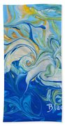 Tossed In The Waves Beach Towel