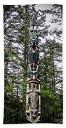 Totem Pole Of Southeast Alaska Beach Towel