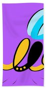 Thoughts And Colors Series Bee Beach Towel