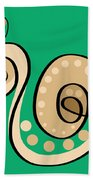 Thoughts And Colors Series Snail Beach Towel