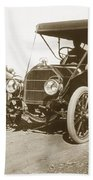 Touring Car On The Road California 1906 Beach Towel
