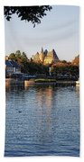 Touring On The World Showcase Lagoon Walt Disney World Beach Towel