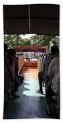 Tourists On The Sight-seeing Bus Run By The Hippo Company In Singapore Beach Towel