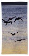 Toward Nightfall Beach Towel