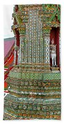 Tower At Temple Of The Dawn-wat Arun In Bangkok-thailand Beach Towel