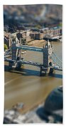 Tower Bridge And London City Hall Aerial View Beach Towel