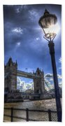 Tower Bridge View Beach Towel
