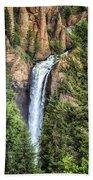 Tower Falls Yellowstone National Park Beach Towel
