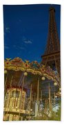 Carousel Tower Beach Towel