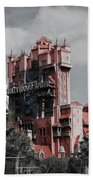 Tower Of Terror  In Color Beach Towel