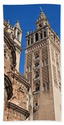 Tower Of The Seville Cathedral Beach Towel