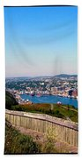 Tower Over The City Triptych Beach Towel