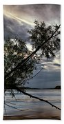 Tower Rock In The Mississippi River Beach Towel