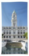 Town Hall In Porto Portugal Beach Towel