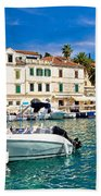 Town Of Hvar Waterfront View Beach Towel