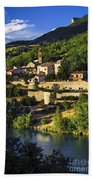 Town Of Sisteron In Provence Beach Towel