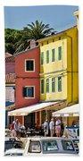 Town Of Veli Losinj Colorful Waterfront Beach Towel