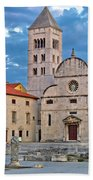 Town Of Zadar Historic Church Beach Towel