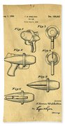 Toy Ray Gun Patent Beach Towel