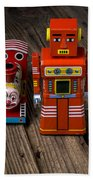 Toy Robot And Train Beach Sheet