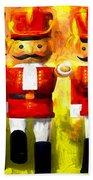 Toy Soldiers Nutcracker Beach Towel by Bob Orsillo