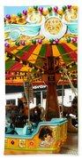 Toy Town Carousel  Beach Towel